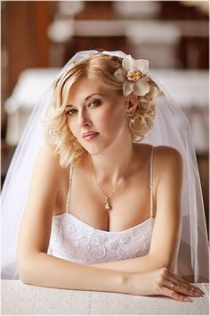 Beautiful Short Wedding Hairstyle