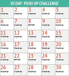 30 Day Push Up Chall