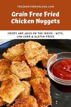 Chicken nuggets have never been more easy or delicious to make homemade thanks to this quick grain-free coating. Keto, Whole30, low-carb, & gluten-free too! No one will miss the traditional breading since these chicken nuggets come out crispy and kids just love them too. Dip recipes included too. Best coating, shallow oil fried, stays crispy and moist in this homemade recipe. @theshortordercook #chickennuggets #chickenrecipes #keto #lowcarb #bestchickenrecipes #grainfreerecipe #ketochicken