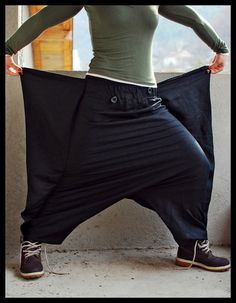 Bat Wings Harem Pants Sarouel Afghan Pants by IsNoGoodWear, $40.00