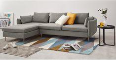 Vento 3 Seater Left Hand Facing Chaise End Corner Sofa, Manhattan Grey Nordic Living Room, Living Room White, Living Rooms, Manhattan, Windows Xp, Angles, L Sofas, Couches, Grey Corner Sofa