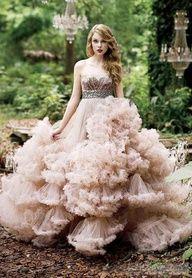 Peach Wedding Dress.
