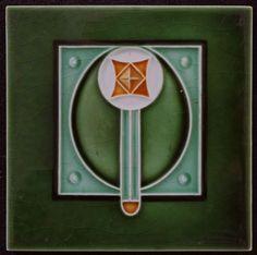 Online veilinghuis Catawiki: Corn Brothers - Art Nouveau tegel