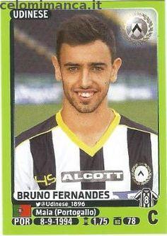 Calciatori 2014-2015: Fronte Figurina n. 515 Bruno Fernandes