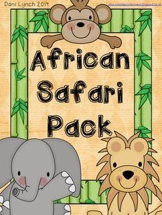 Safari Literacy and Numeracy Pack Preschool Themes, Kindergarten Activities, Classroom Themes, African Animals, African Safari, Safari Theme, Jungle Safari, Rumble In The Jungle, Safari Animals