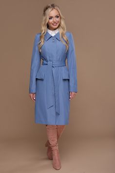 Купить Плащ 83 (джинс) от TM GLEM Duster Coat, Dresses For Work, Street Style, Shirt Dress, Fashion Outfits, Jackets, Shirts, Down Jackets, Shirtdress
