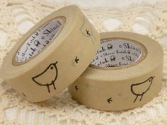 Cute Bird and Bird Print Washi Tape by BellasBeadHabit on Etsy