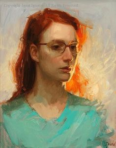 Girl with Red Hair by Ignat Ignatov - the light on this is outstanding