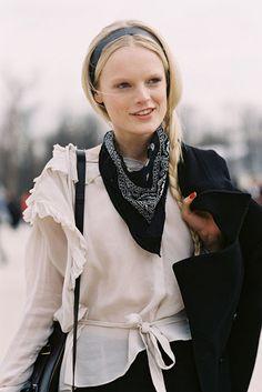 Belgian model Hanne Gaby Odiele, after Valentino, Paris, March 2013. #VanessaJackman
