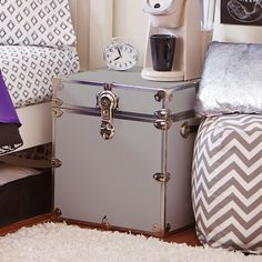 Storage Trunks For College Captivating Large Trunk  White  Dorm College And Dorm Room Design Inspiration