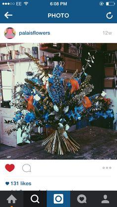 Blue and orange bunch
