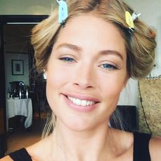 Pin for Later: Bid Adieu to Cannes Style by Taking a Look at These BTS Snaps Doutzen Kroes Got Playful While She Was Getting Ready