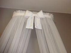 Princess Bed canopy CrOwN with FrEe White Sheer by SoZoeyBoutique