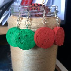 Cork earrings in some colors :) Handmade Wooden, Handmade Gifts, Pink Envelopes, Sticky Notes, Cute Pink, Coupon Codes, Primary Colors, Cork, Homemade