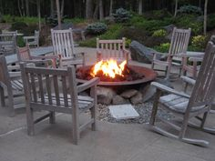 The firepit at the Lodge at Woodloch.  Beautiful destination spa and the fire is a great place for meeting new and interesting people.