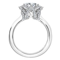 An Exclusive First Look at Karl Lagerfeld's New Engagement Ring Designs Ring 2 Full view