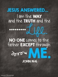 Sweet Blessings: John 14:6 FREE Printable