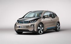 Download wallpapers BMW i3, 2017, electric hatchback, 4k, electric car, B-class, BMW