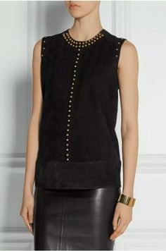 42fd7cb4d4c This Lanvin suede top is versatile enough to be worn year-round. By not  layering the top
