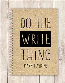 Do the 'write' thing and place your order for delivery today. The personalised notebook makes the ultimate gift for Stationery Day Personalized Notebook, Personalized Stationery, Personalized Gifts, Same Day Delivery Service, The Ultimate Gift, Writing, How To Make, Customized Gifts, Being A Writer