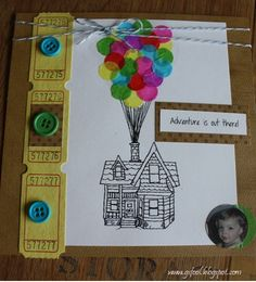 Up - party invite ideas- like the balloons, but I would change the rest to suit our style