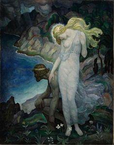 Odysseus and Calypso (1929) - N.C. Wyeth, illustration for The Odyssey of Homer