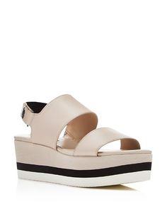 $Via Spiga Neza Slingback Flatform Sandals - Bloomingdale's