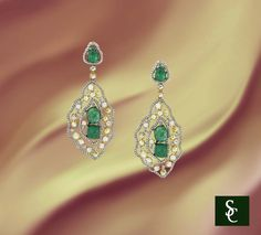 #Emerald #Earrings #May #Birthstone #Diamonds #Hanging #Fashion #Color #Spring #Fine #Jewelry #Dressy #Unique #OneOfAKind, #Gorgeous