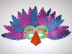 Bird Mask   Made from construction paper and glued onto a ha…   Flickr