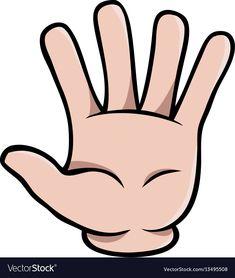 Human cartoon hand showing five fingers Royalty Free Vector Senses Preschool, Body Preschool, Senses Activities, Numbers Preschool, Preschool Learning Activities, Learning Numbers, Free Preschool, Preschool Worksheets, Preschool Activities