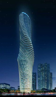 In Canada.... there\'s a complementary tower, not exactly a twin.... really cool.