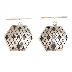 Cuff links with blue topaz by metal&grete