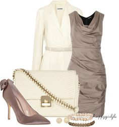 """""""Taupe & Cream"""" by happygirljlc ❤ liked on Polyvore"""