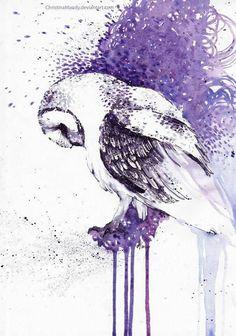 new Ideas love bird sketch mixed media Art And Illustration, Watercolor Illustration, Owl Art, Bird Art, Watercolor Bird, Watercolor Paintings, Tattoo Watercolor, Owl Paintings, Watercolor Pencils