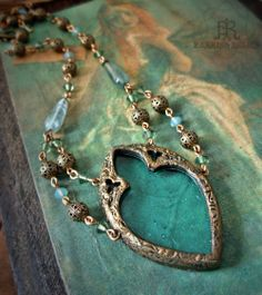 Ophelia's Window - Stained Glass Gothic Arch Necklace
