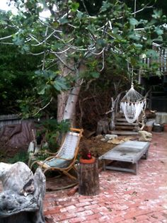 a rustic outdoor space