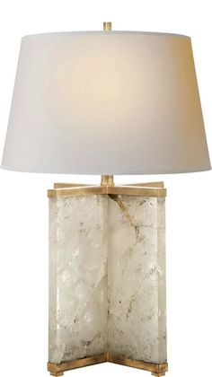 Cameron Table Lamp in Quartz | Designed by J. Randall Powers for Visual Comfort