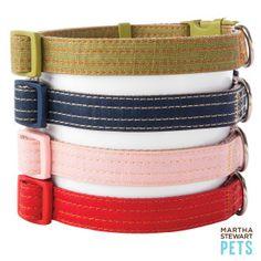 Martha Stewart Pets™ Coated Linen Adjustable Collar - PetSmart pink of course... 5.97