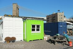 Net-Zero Shipping Container Energy Center Opens at Brooklyn Bridge Park