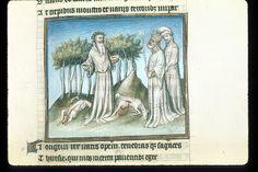 Publius Papinius Statius Thebais , with the argumenta antiqua; Achilleis, Francja, ok. 1405, f61