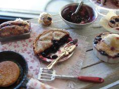 Dollhouse miniature blueberry baking by Kimsminibakery on Etsy