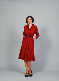 Vintage 50s Dress  1950s Dress  Bonjour by concettascloset on Etsy, $54.00