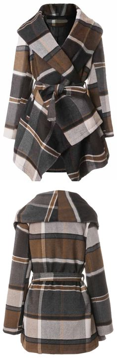 Check now, $46.99! Free shipping & Easy Return+Refund! This plaid coat is perfect for this style in between weather! Can not deny it at Cupshe.com !