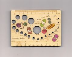 Karatstix Needle Gauge. Her knitting tools are the greatest!