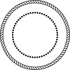 Rope Border Clip Art At Clker Com Vector Clip Art Online Royalty - Clipart Suggest Circle Borders, Borders And Frames, Shamrock Clipart, Bus Art, Round Border, Rope Frame, Free Clipart Images, Frame Clipart, Monogram Frame