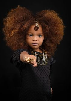 35 Amazing Natural Hairstyles for Little Black Girls - Part 31 looking for inspiration to glam up your girl's hair? We've gathered the best beads, braids and bangs for little black girls in this gallery! Black Girl Art, Black Women Art, Black Girls Rock, Black Kids, Black Girl Magic, High Bun Hairstyles, Teen Hairstyles, Curly Haircuts, Party Hairstyles