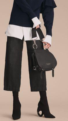 The Bridle Bag in Deerskin in Black - Women | Burberry