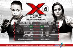 CO-MAIN EVENT: Women's Flyweight Tournament Finale Antonia Silvaneide 4-1 (BR) vs. Poliana Botelho 3-1 (BR)  See more at www.XFCMMA.com/XFCi9 #XFC #MMA #WMMA #flyweight #championship #tournament #SaoPaulo #Brazil #RedeTV March 14th