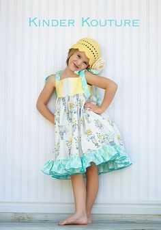 The Tiffany Sundress  Size 4  Available by KinderKouture on Etsy, $54.00