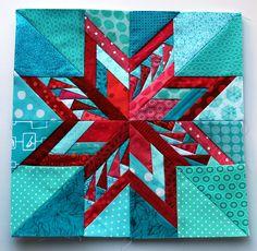 Paper piecing star block.